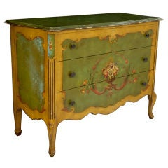 Antique American Hand-Painted Chest of Drawers Commode