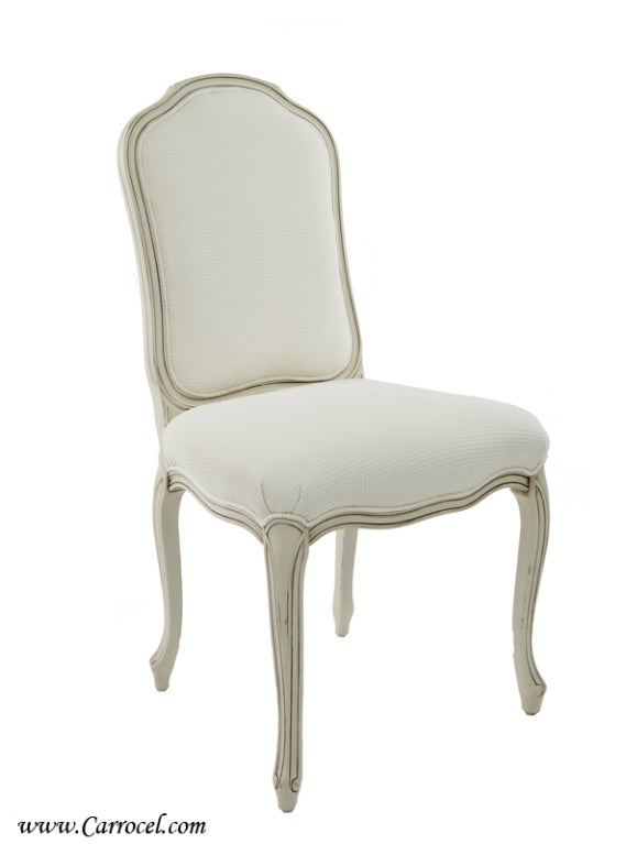 Set of 8 French Distressed Cream Dining Chairs Custom  : 884913316493561 from www.1stdibs.com size 569 x 767 jpeg 24kB