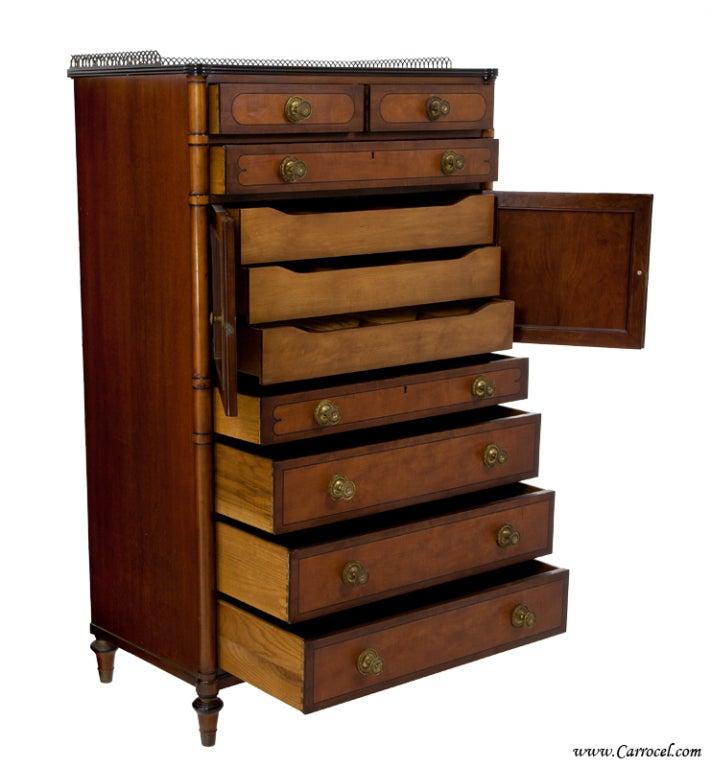 Antique Kittinger Mahogany Bedroom Chest Highboy Dresser