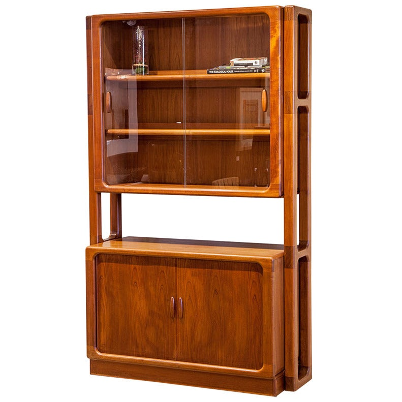 Mid Century Modern Teak Display Cabinet At 1stdibs