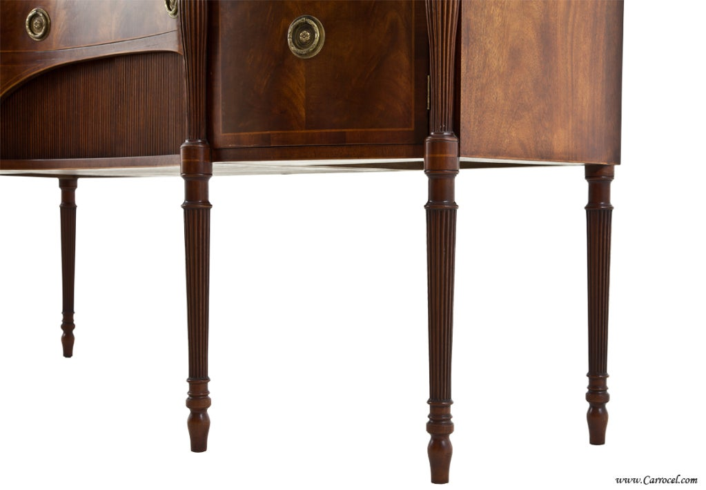 Antique  Mahogany English Sideboard by Schmieg and Kotzian For Sale 5