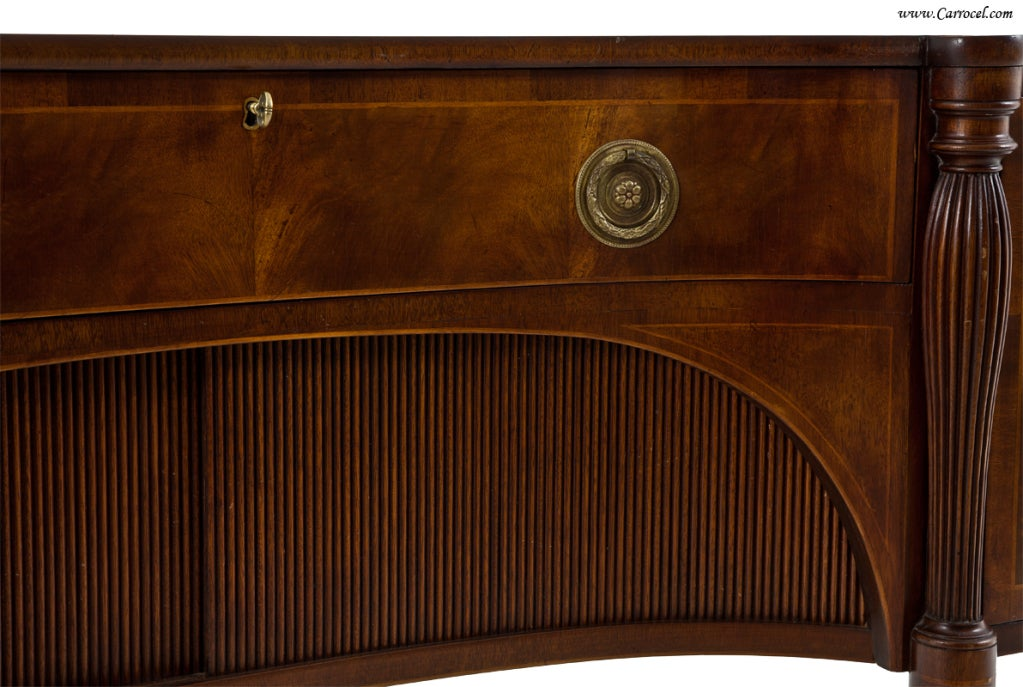 American Antique  Mahogany English Sideboard by Schmieg and Kotzian For Sale