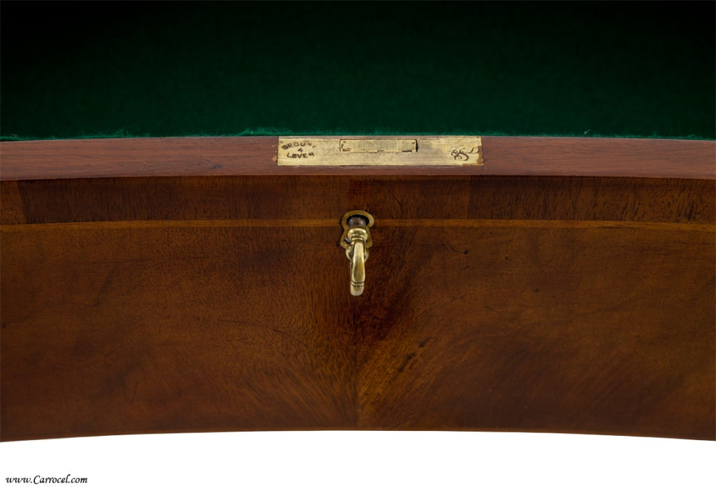 Antique  Mahogany English Sideboard by Schmieg and Kotzian In Excellent Condition For Sale In North York, ON