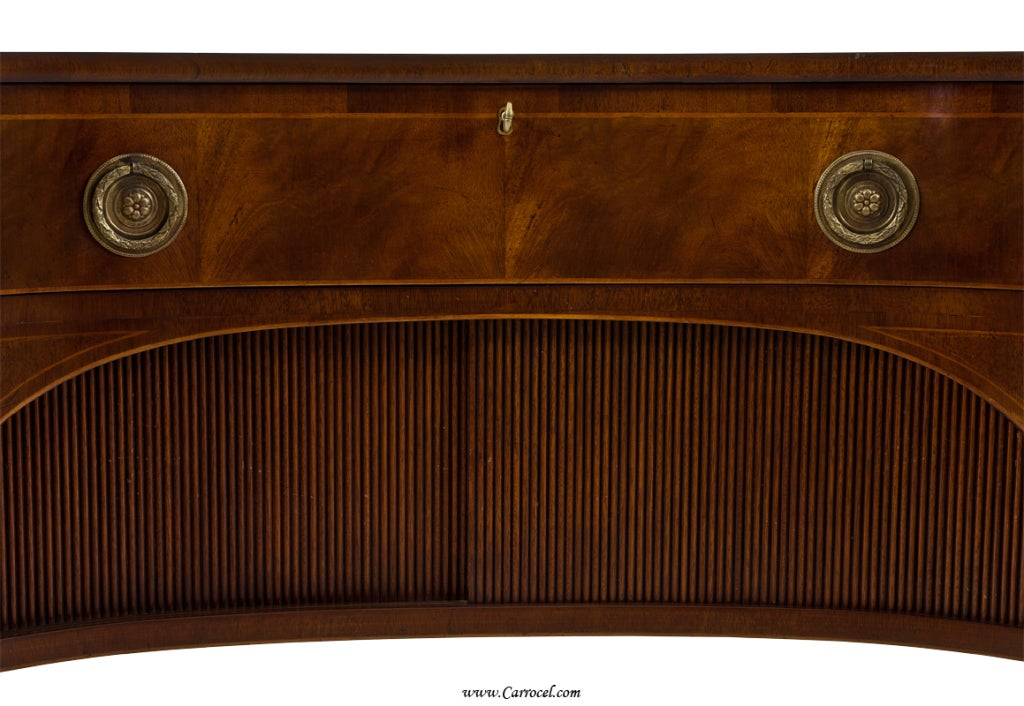Antique  Mahogany English Sideboard by Schmieg and Kotzian For Sale 2