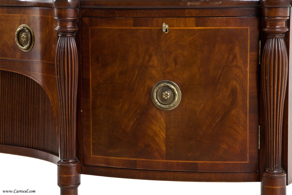 Antique  Mahogany English Sideboard by Schmieg and Kotzian For Sale 3