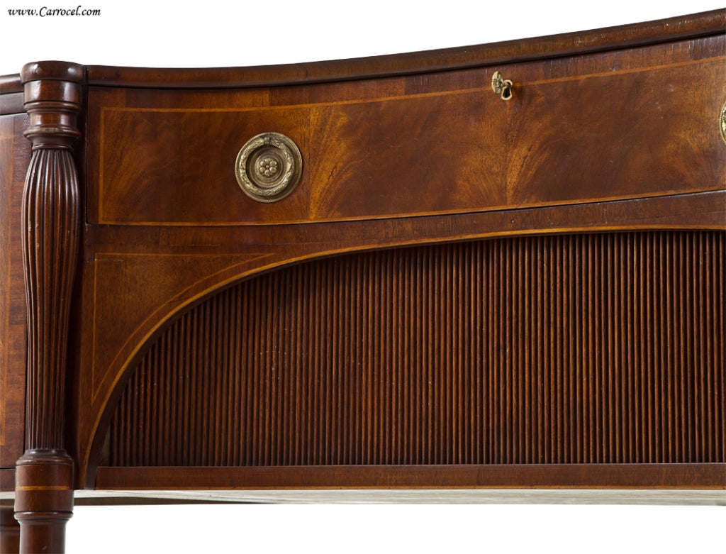 Antique  Mahogany English Sideboard by Schmieg and Kotzian For Sale 4
