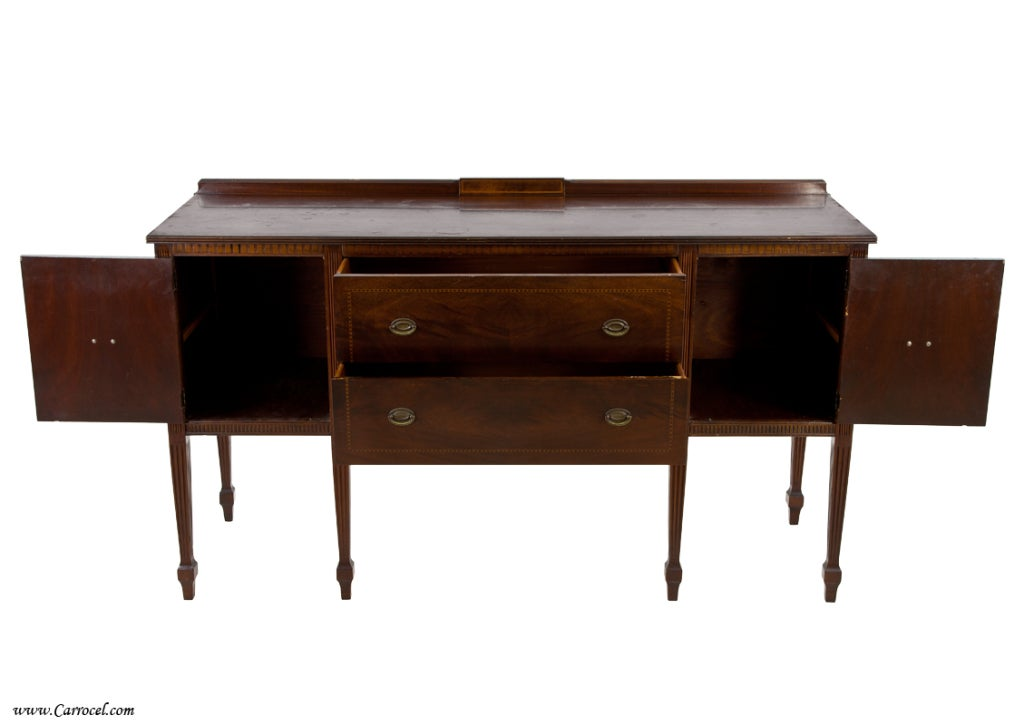 antique english hepplewhite mahogany buffet sideboard at 1stdibs. Black Bedroom Furniture Sets. Home Design Ideas
