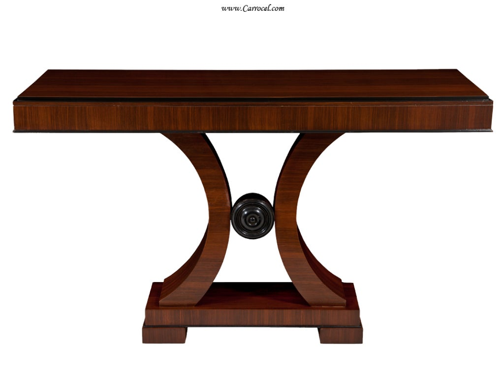 Rosewood art deco modern console hall entrance table at - Table de nuit art deco ...