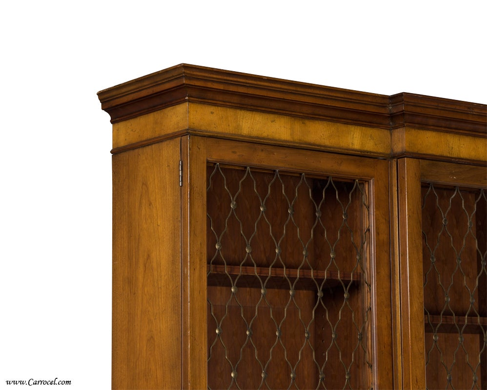 Walnut Display China Cabinet Office Bookcase By Baker