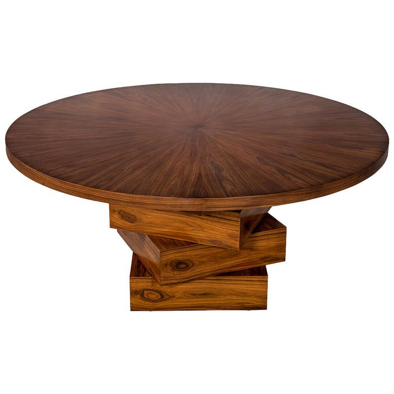 Allison Paladino Round Rosewood Dining Table At 1stdibs