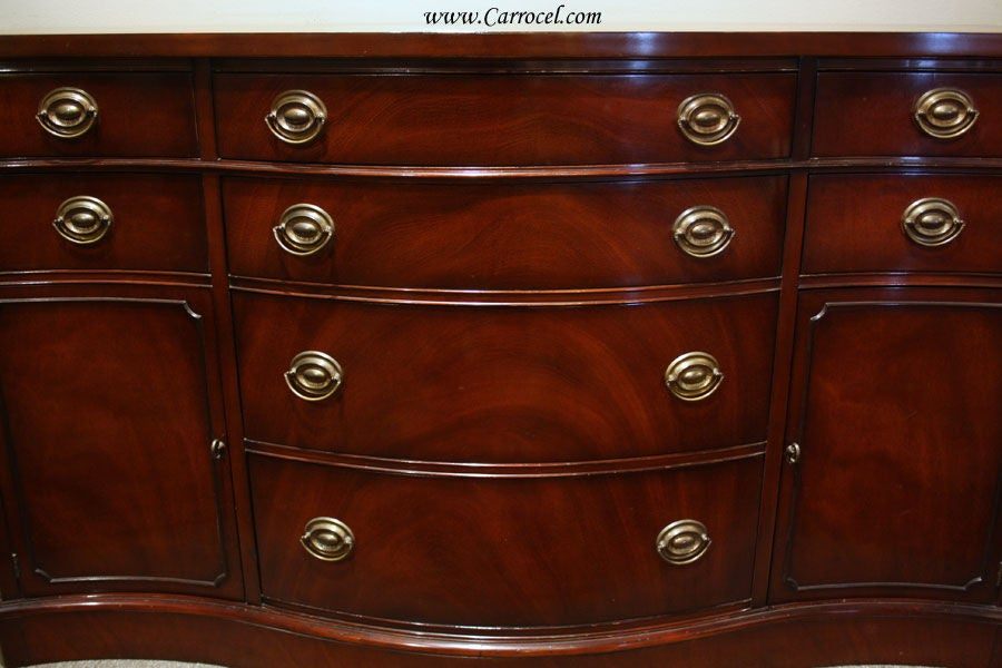 Antique Solid Mahogany Sideboard Buffet by Drexel 2