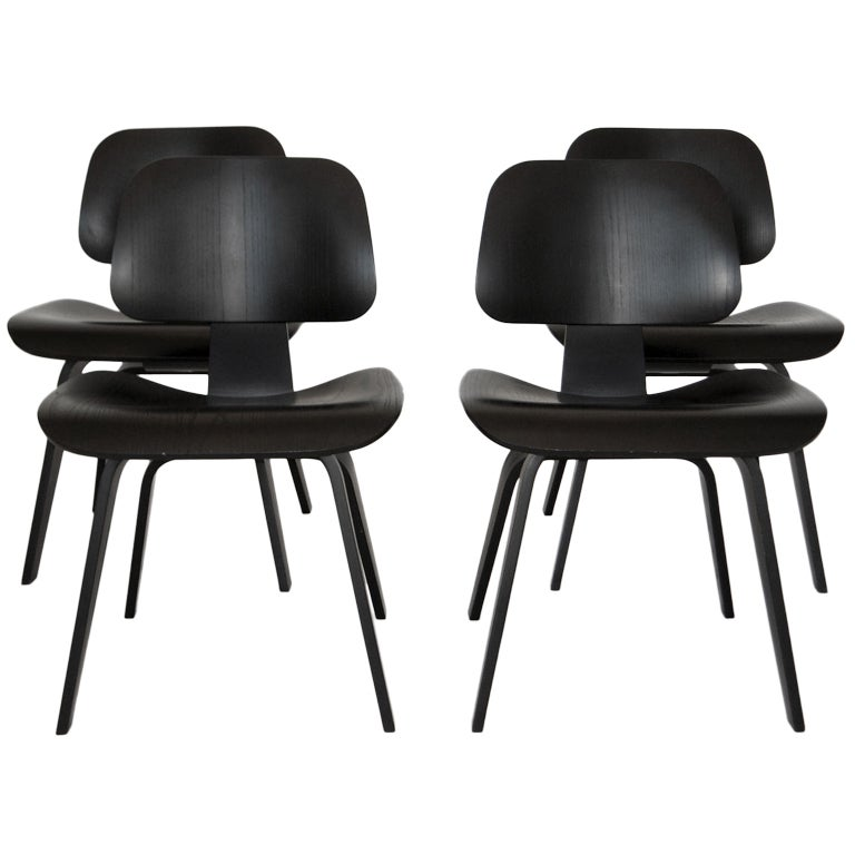 Eames DCW Dining Chairs for Herman Miller 1