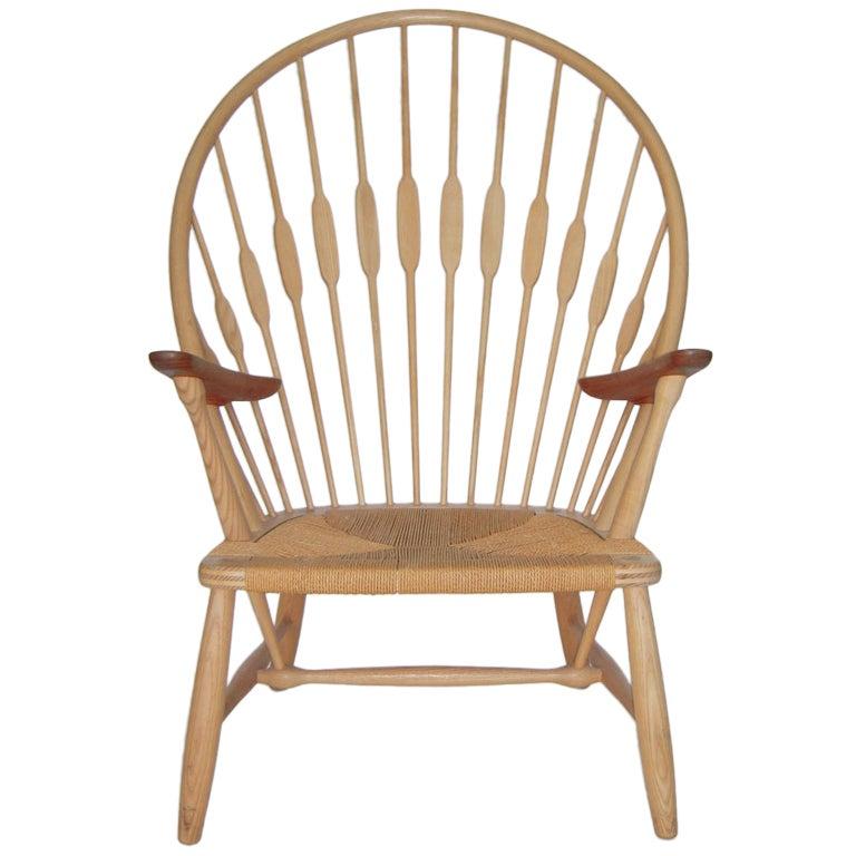 Fine Danish Peacock Chair By Hans Wegner For Johannes Hansen