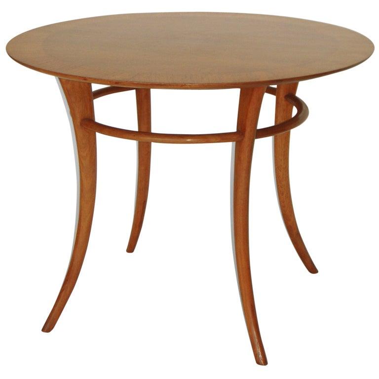 Sabre leg klismos side or center table by robsjohn for Center table legs