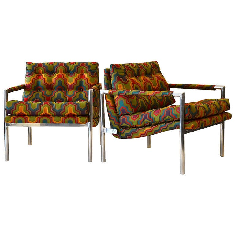 Pair of Lounge Chairs In Manner of Harvey Probber