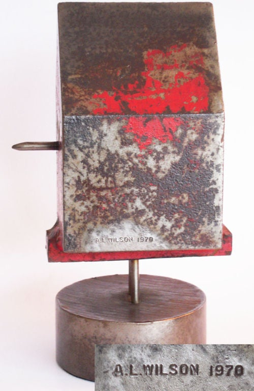 Late 20th Century Modernist Solid Steel Bird House by Albert Wilson For Sale