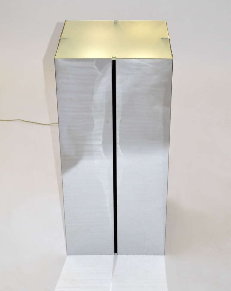 Chrome Plated Steel Pedestals By Neal Small For Sale At