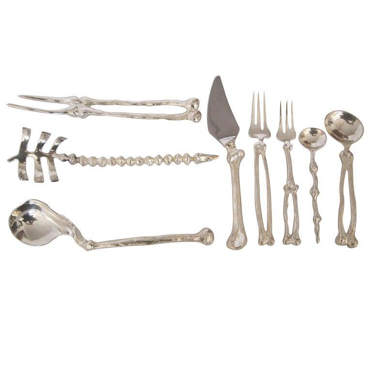 Silver Plate Skeletal System Bone Flatware By Michael
