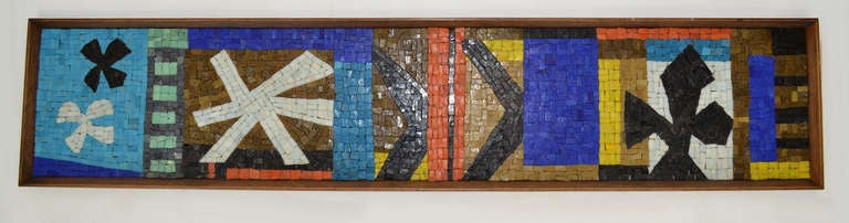 Framed Tile Mosaic By Evelyn Ackerman At 1stdibs