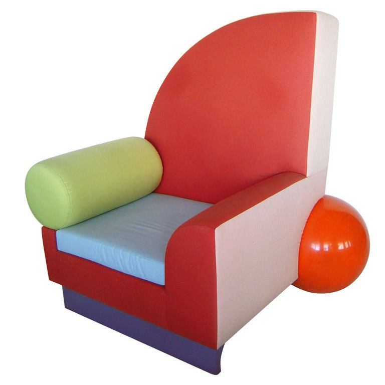 """""""Bel Air"""" Chair by Peter Shire for Memphis"""