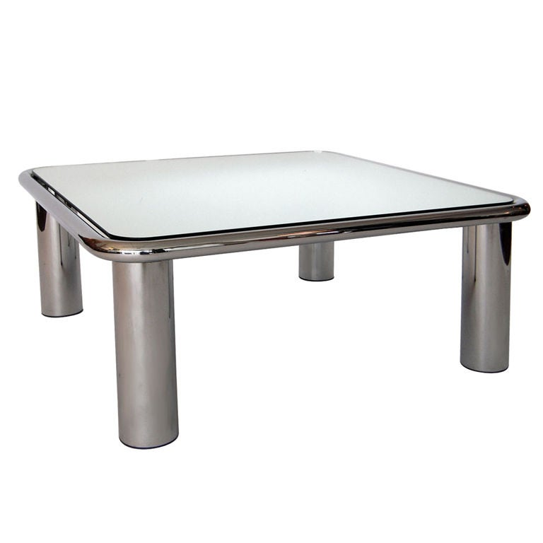 Chrome And Mirror Coffee Table Gianfranco Frattini For Cina 1968