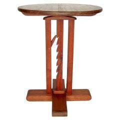 Studio Crafted Wooden Adjustable Pedestal or End Table