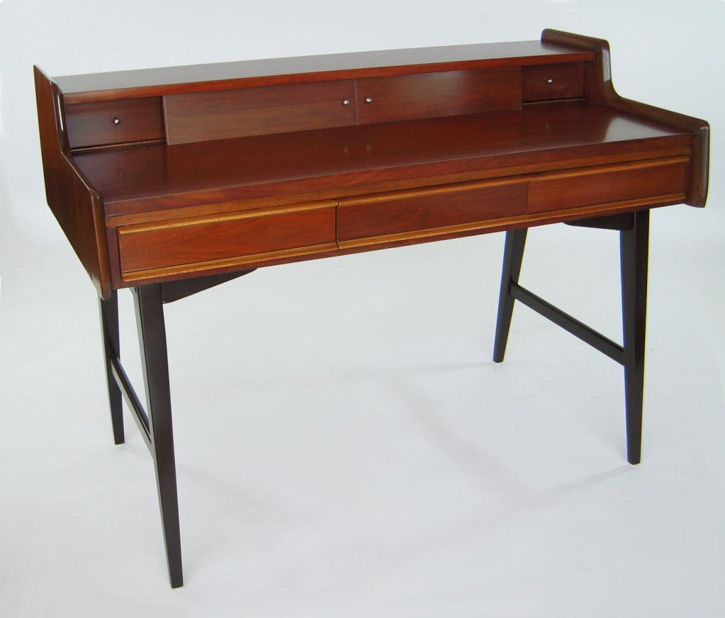 sleek midcentury modern writing desk in the style of gio ponti  - sleek midcentury modern writing desk in the style of gio ponti s