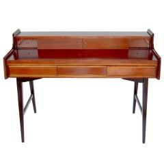 Sleek Mid-Century Modern Writing Desk in the Style of Gio Ponti, 1960s