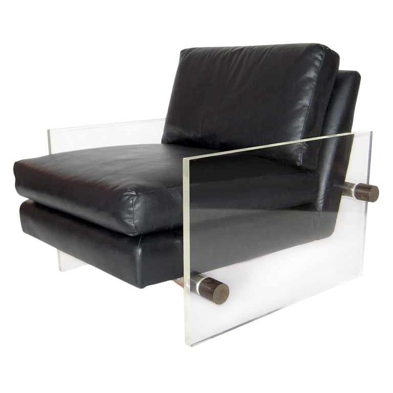 Floating Lucite Mid Century Modern Lounge Chair at 1stdibs