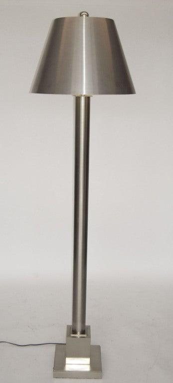 fine custom stainless steel floor lamp by maison charles at 1stdibs. Black Bedroom Furniture Sets. Home Design Ideas