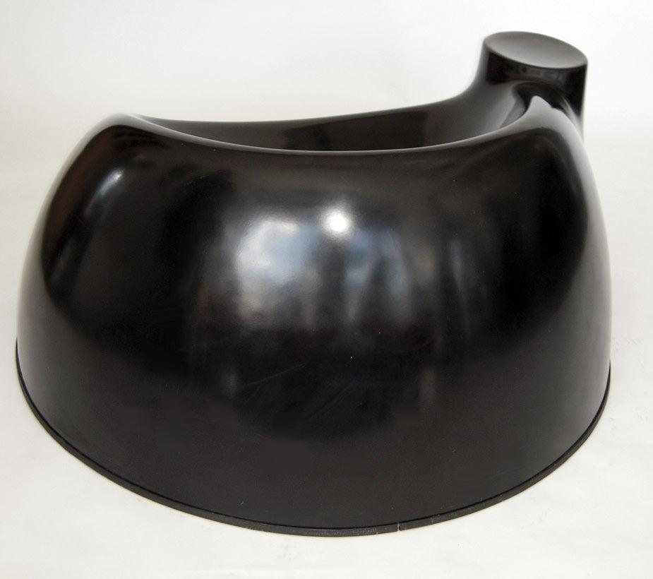"Mid-Century Modern Black Fiberglass ""Castle"" Chair by Wendell Castle For Sale"