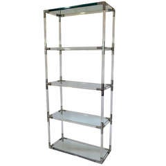 Etagere in Tubular Lucite and Aluminum by Charles Hollis Jones