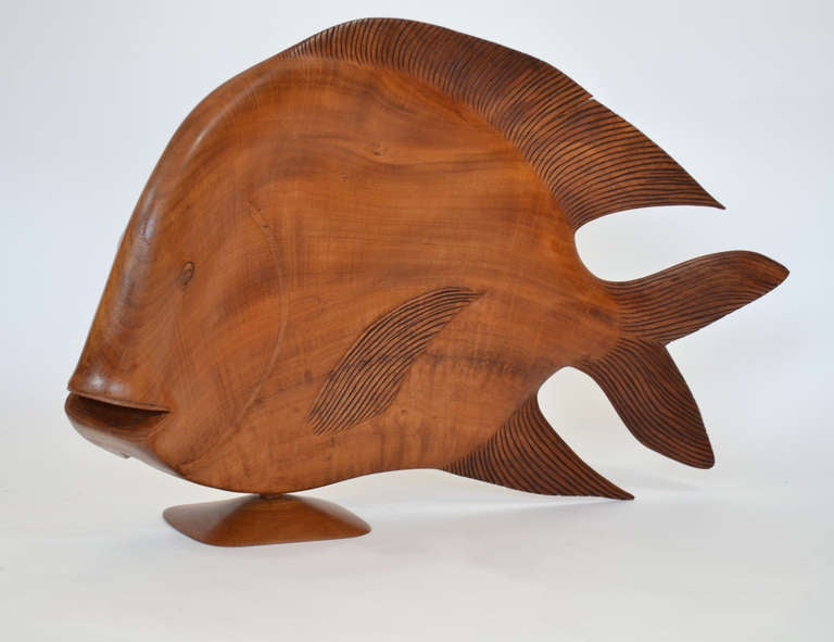 Monumental Brazilian Wood Carving of a Fish For Sale 2