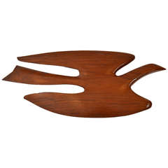 Large and Rare Wood Wall Sculpture by Clark Voorhees
