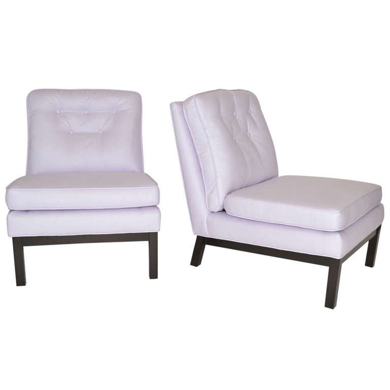 Pair of Low Mid-Century Slipper Lounge Chairs After Harvey Probber