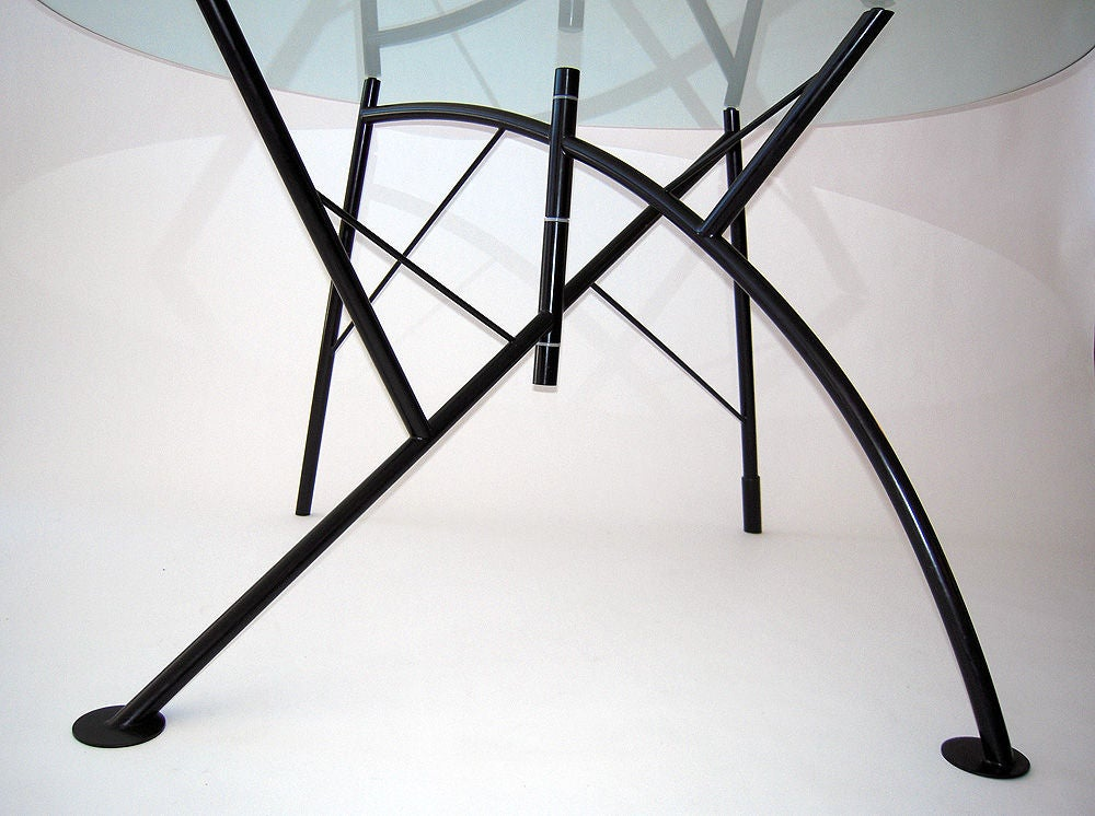 Dole milipone dining table by philippe starck at 1stdibs for Philippe starck glass table