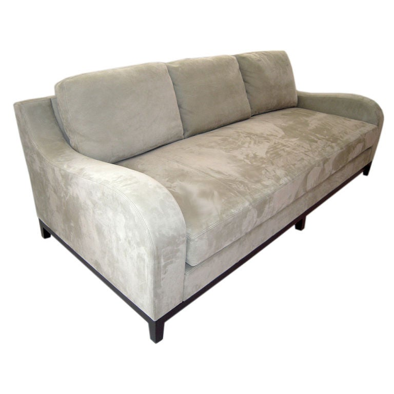 Suede sofa designed by christian liaigre at 1stdibs for Suede furniture
