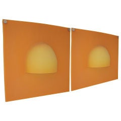 Pair of French POP 1960s Rubber Sconces