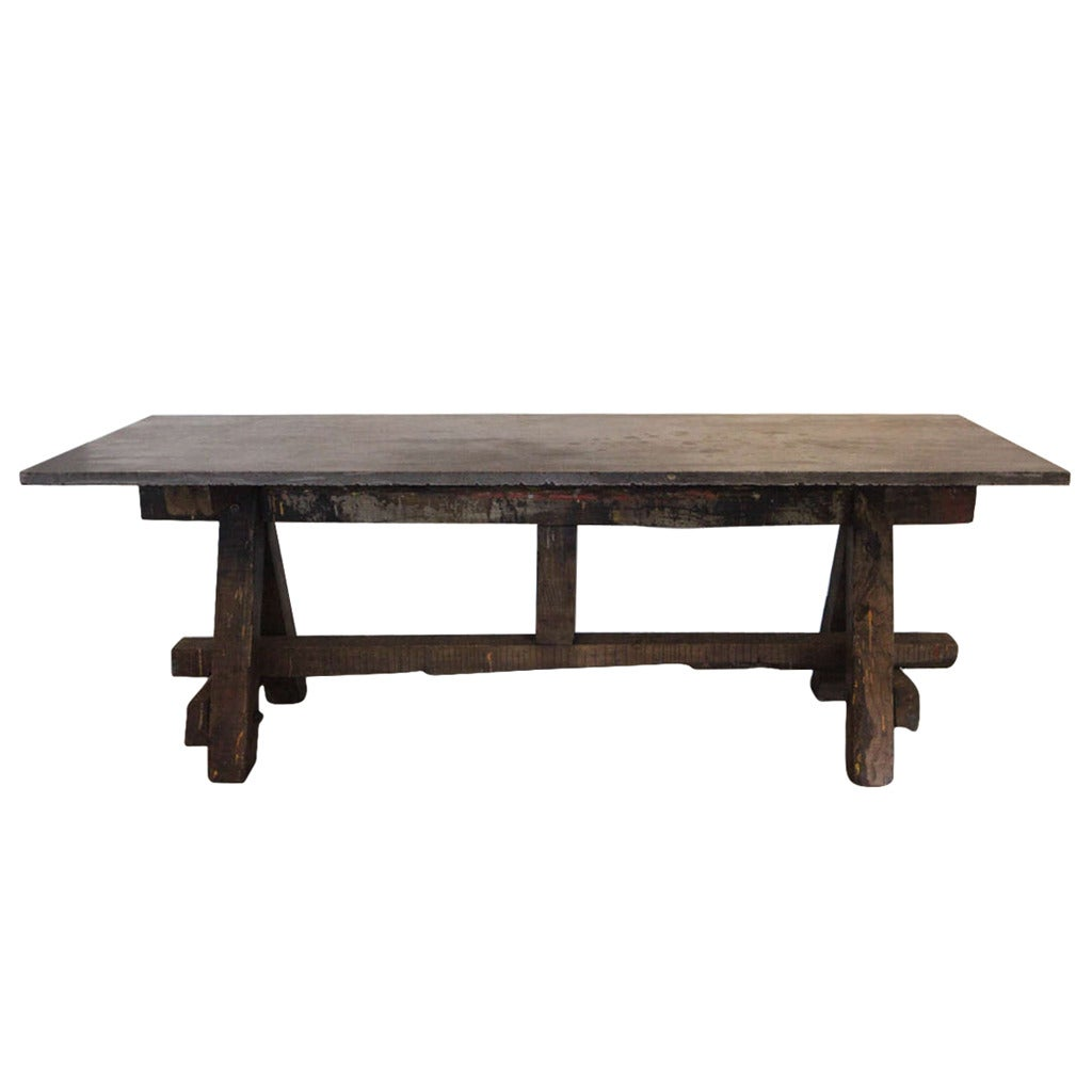 Bluestone work table, 18th century