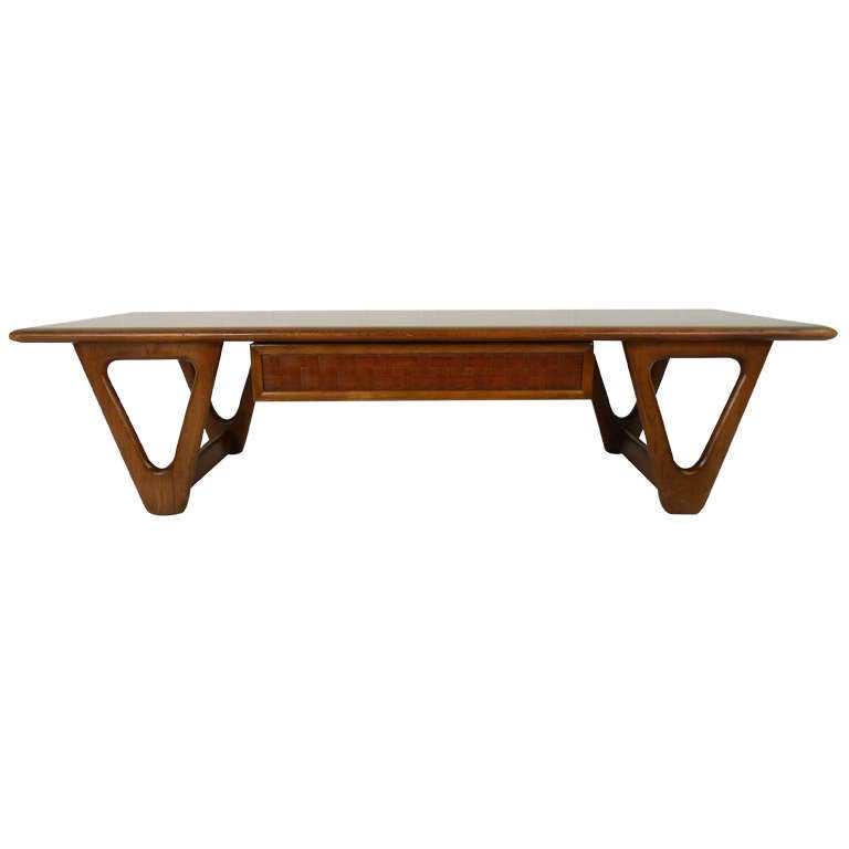 Vintage Walnut Coffee Table By Warren Church For Lane
