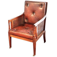 English Caned Chair of Mahogany in the Regency Style