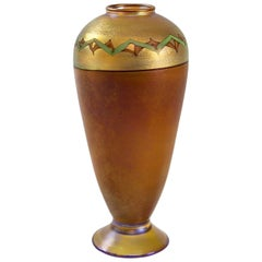 "Tiffany Studios New York ""Tel El Amarna"" Glass Pedestal Vase"