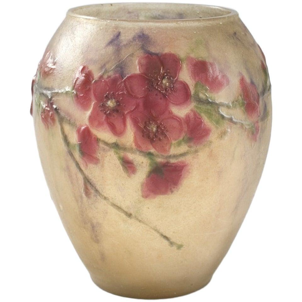 argy rousseau french art deco p te de verre vase at 1stdibs. Black Bedroom Furniture Sets. Home Design Ideas