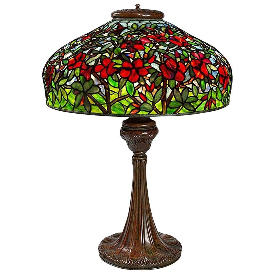 Tiffany Studios New York Quot Azalea Quot Table Lamp At 1stdibs