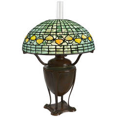 And bronze table lamp tiffany studios the shade with iridescent green - Art Nouveau Table Lamps At 1stdibs