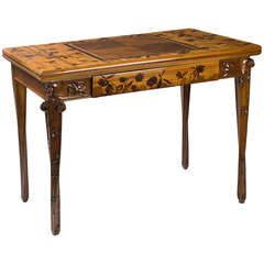 Louis Majorelle French Art Nouveau Games Table