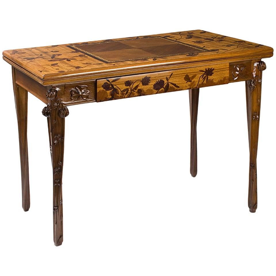 Louis Majorelle French Art Nouveau Games Table