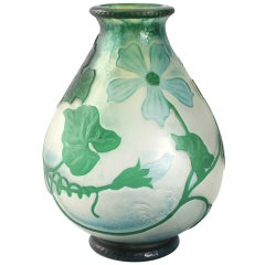 "Daum French Art Nouveau Vase ""Squash Blossom"""