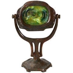 """Tiffany Studios """"Turtleback"""" Bronze """"Zodiac"""" Desk Lamp"""