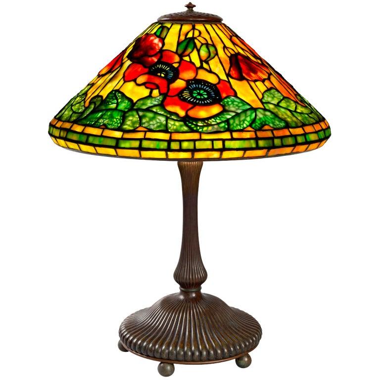 Tiffany Studios Quot Wire Mesh Poppy Quot Lamp At 1stdibs